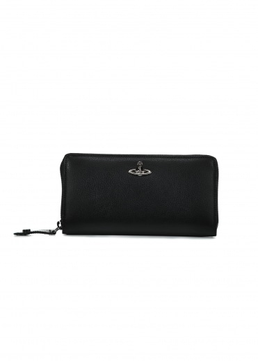 Sheffield Zip Round Wallet - Black