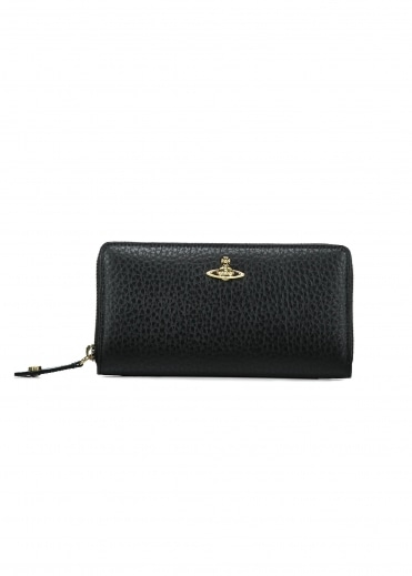 Belgravia Zip Round Wallet - Black
