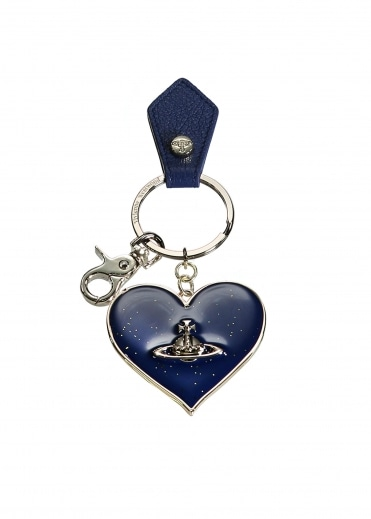 Mirror Heart Keyring - Blue