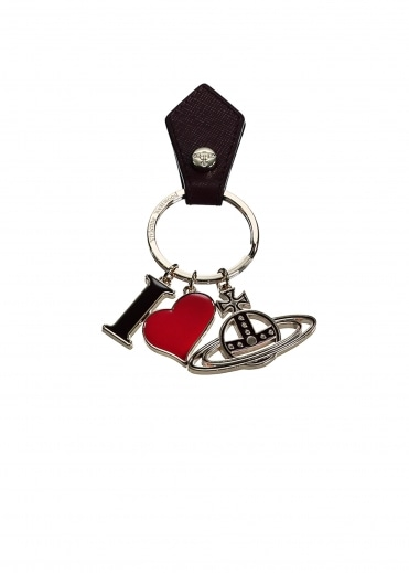 I Love Orb Keyring - Bordeaux