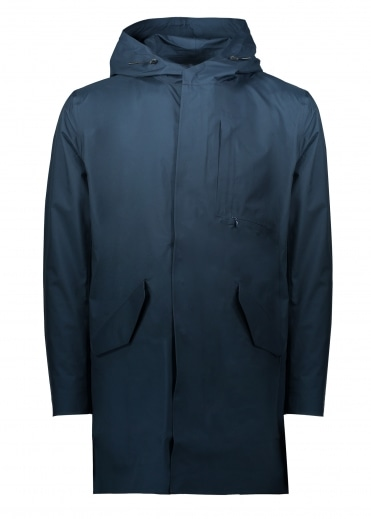 Goretex Shell Coat - Navy