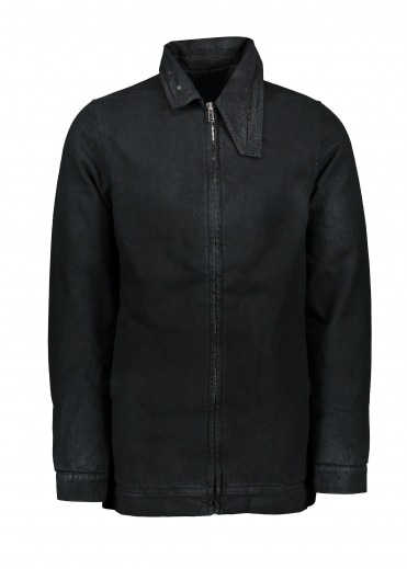 Denim Padded Jacket - Black