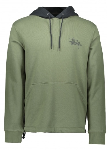 Two Tone Hoodie - Olive