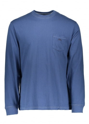 O'Dyed LS Pocket Tee - Blue