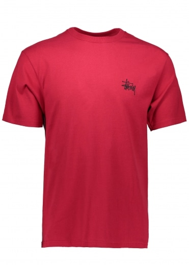 Basic Stussy Tee - Dark Red