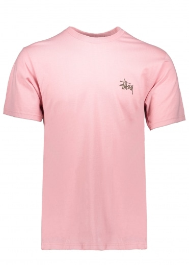 Basic Stussy Tee - Dusty Rose