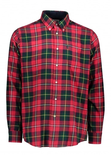 Alvin Tartan Shirt - Rich Red