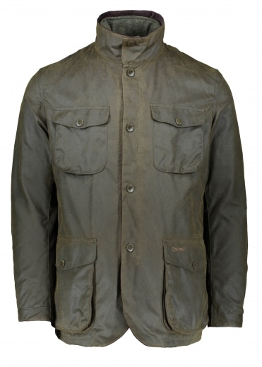 Ogston Wax Jacket - Olive
