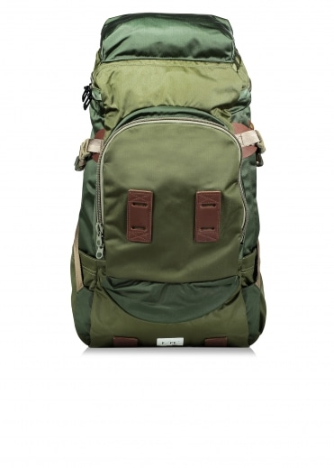 Satin Big Travel Backpack - Olive