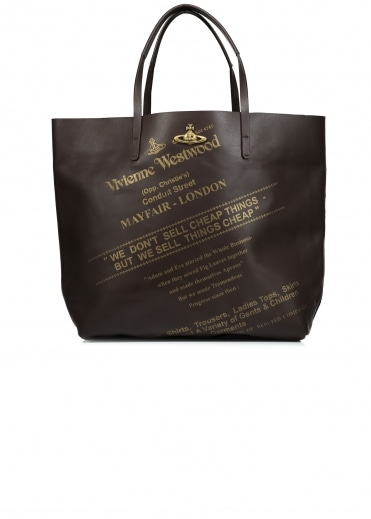 Leather Shopper - Dark Brown