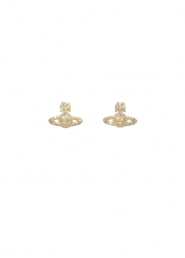 Grace BR Stud Earrings - Yellow Gold