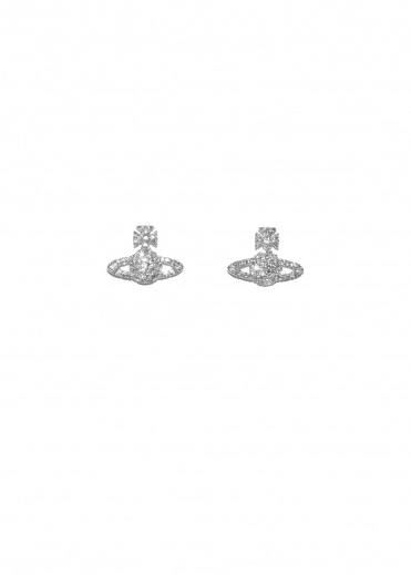Grace BR Stud Earrings - Rhodium