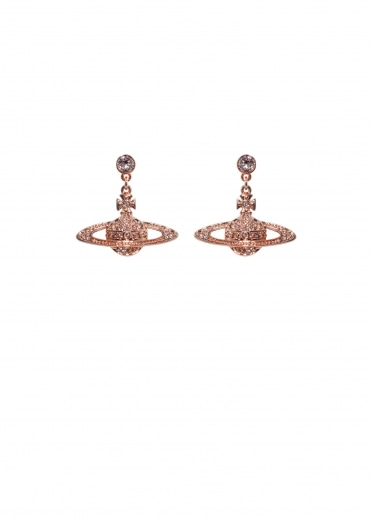 Bas Relief Drop Earrings - Pink Gold