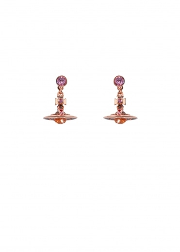 New Petite Orb Earrings - Pink Gold