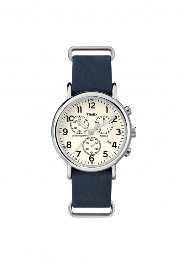 Round St Case Watch - Slate Blue