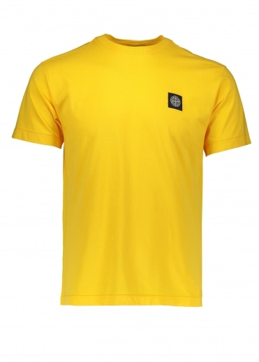 Small Logo Patch Tee - Yellow