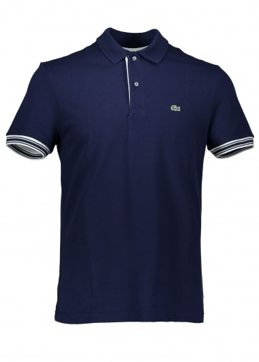 Trim Polo - Navy Blue