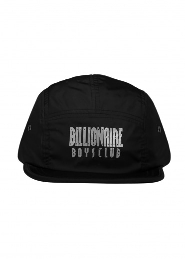 Reflective Logo 5 Panel Cap - Black