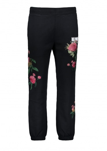 Embroidered Floral Pant - Black