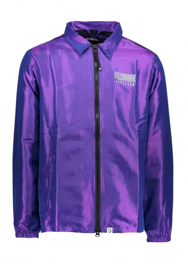 Iridescent Zip Jacket - Purple