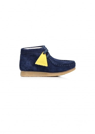 Childs Wallabee Boot - Navy Suede