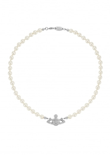 Mini Bas Relief Choker - Rhodium