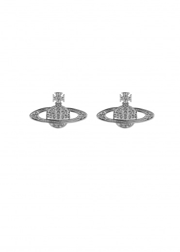 Mini Bas Relief Earrings - Rhodium