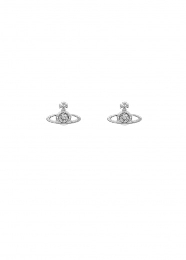 Nano Solitaire Earrings - Rhodium