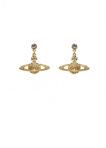 Bas Relief Drop Earrings - Gold