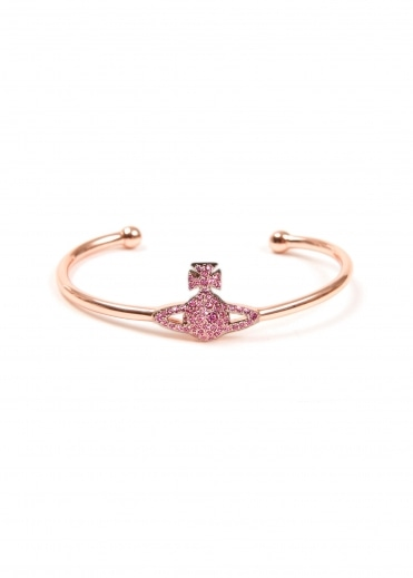 Grace Open Bangle - Pink Gold