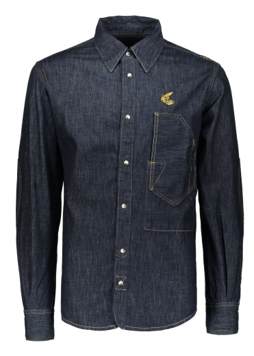Anglomania Lars Workman Shirt - Blue Denim