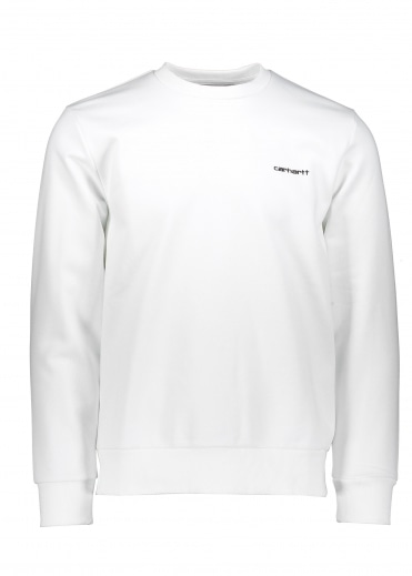 Script Embroidery Sweat - White / Black