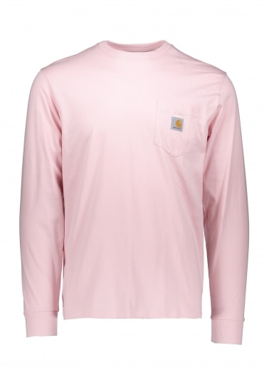 LS Pocket T-Shirt - Sandy Rose