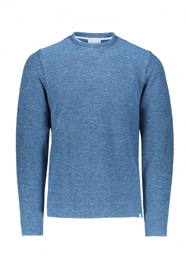 Halfdan Sweat Indigo - Light Indigo