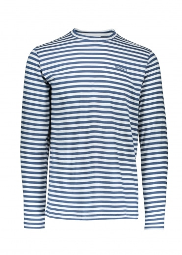 James Logo Stripe - Annodized Blue