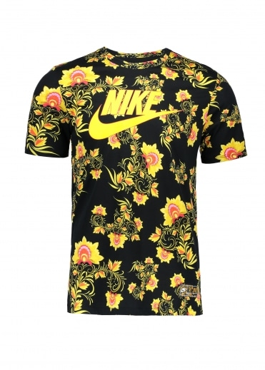 Pattern T-Shirt - Black / Yellow