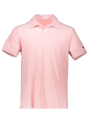 Towelling Polo - Pink