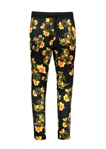 Pattern Track Pant - Black / Yellow