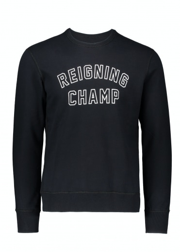 Varsity Crew Neck - Black / White