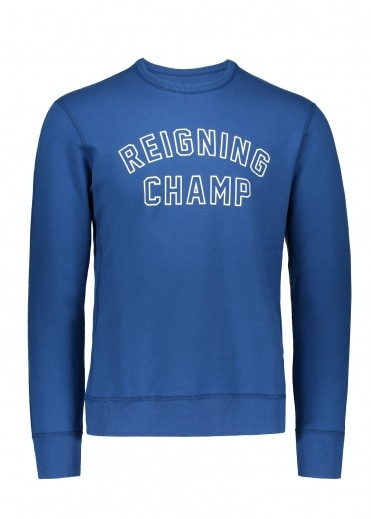 Varsity Crew Neck Court - Blue / White