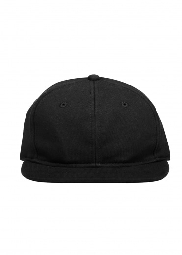 Terry 6 Panel Hat - Black