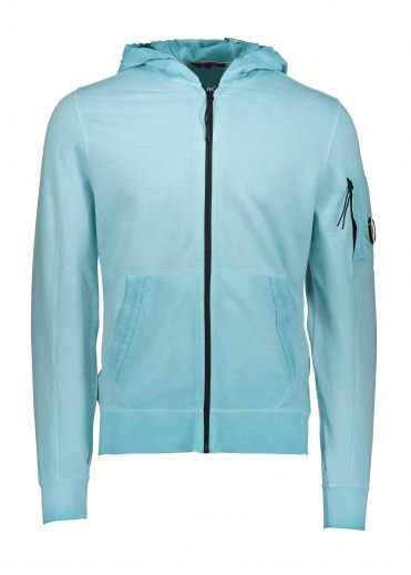Hooded Zip Sweat - Blue Radiance