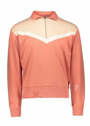 Half Zip Fleece - Orange