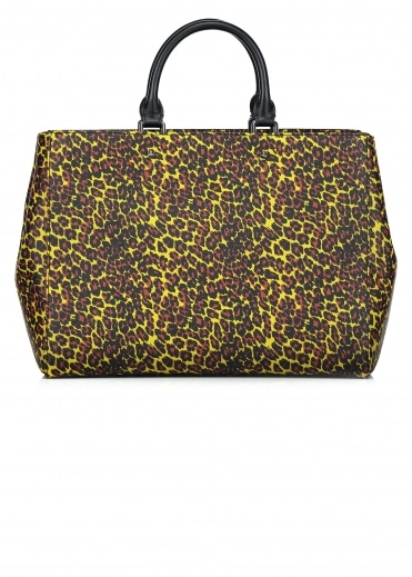 Leopard Shopper Bag - Yellow