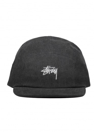 Washed Oxford Canvas Cap - Black