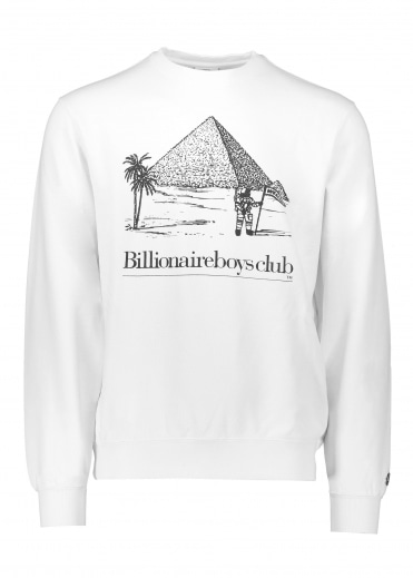 Pyramid Crew Neck - White