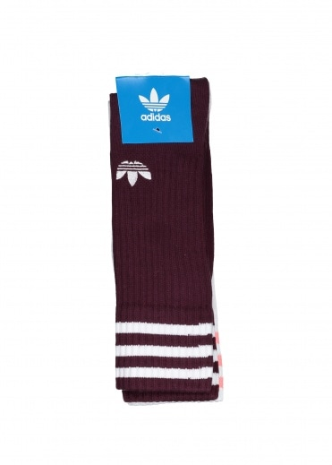 5a9f8bb1c Solid Crew Two Pack Socks - Maroon