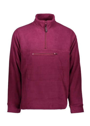 0743d24284088 Polar Fleece Mock Neck - Berry · Stussy ...