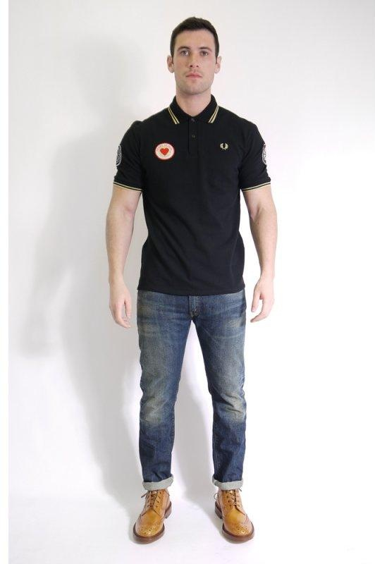 a1de36b0d Fred Perry Blank Canvas 1963 Northern Soul Polo Black   Triads