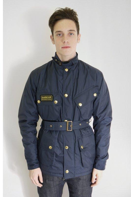 Barbour Nylon International Navy Jackets From Triads Uk